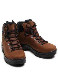 Brązowe buty trekkingowe Alpina trekkingowe