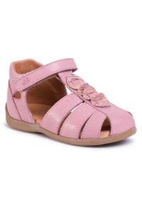 Różowe sandały Froddo na co dzień, z aplikacjami, casualowe