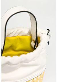Biała torebka Nobo z aplikacjami, skórzana, na ramię