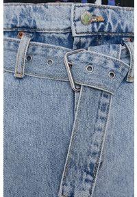 TALLY WEIJL - Tally Weijl - Spódnica jeansowa. Okazja: na co dzień. Stan: podwyższony. Kolor: niebieski. Materiał: jeans. Styl: casual