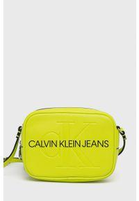 Calvin Klein Jeans - Torebka. Kolor: zielony. Rodzaj torebki: na ramię