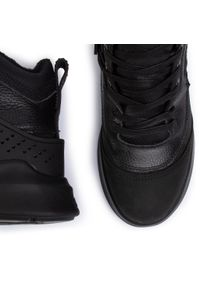Czarne buty zimowe Pajar z cholewką, eleganckie