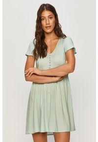 Zielona sukienka TALLY WEIJL casualowa, z krótkim rękawem, rozkloszowana