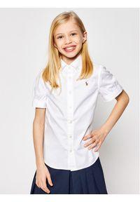 Polo Ralph Lauren Koszula Solid Oxford 313680346001 Biały Regular Fit. Typ kołnierza: polo. Kolor: biały