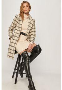 Kremowy płaszcz Jacqueline de Yong klasyczny, bez kaptura