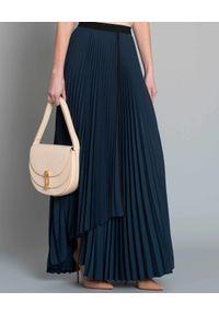 Beatrice B - BEATRICE B - Plisowana spódnica. Kolor: niebieski. Materiał: materiał. Sezon: lato, wiosna. Styl: elegancki