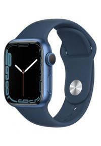 APPLE - Smartwatch Apple Watch 7 GPS 41mm aluminium, niebieski | błękitna toń pasek sportowy. Rodzaj zegarka: smartwatch. Kolor: niebieski. Styl: sportowy