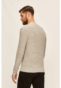 Polo Ralph Lauren - Sweter. Typ kołnierza: polo. Kolor: szary. Materiał: dzianina. Długość rękawa: długi rękaw. Długość: długie