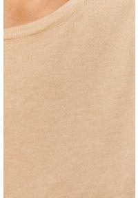 Beżowy sweter Answear Lab gładki, wakacyjny, na co dzień