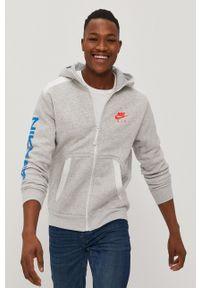 Nike Sportswear - Bluza. Okazja: na co dzień. Typ kołnierza: kaptur. Kolor: szary. Styl: casual