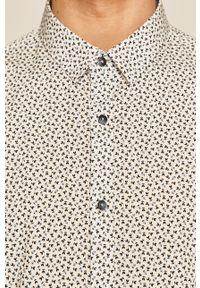 Biała koszula medicine na co dzień, krótka, casualowa, z klasycznym kołnierzykiem