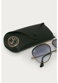 Złote okulary przeciwsłoneczne Ray-Ban