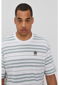 Levi's® - Levi's - T-shirt. Okazja: na spotkanie biznesowe. Kolor: zielony. Materiał: bawełna, dzianina. Styl: biznesowy