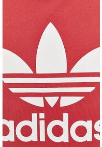 Różowa bluzka adidas Originals casualowa, na co dzień, z nadrukiem