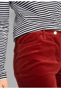 Czerwone spodnie bonprix z obniżonym stanem