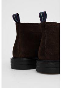 GANT - Gant - Trzewiki skórzane Kyree. Nosek buta: okrągły. Zapięcie: sznurówki. Kolor: brązowy. Materiał: skóra