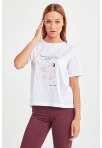 T-shirt Patrizia Pepe w kolorowe wzory, na co dzień, casualowy