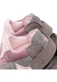 Sneakersy RICOSTA - Pepino By Ricosta Kimi 742120700/454 Graphti/Blush. Kolor: szary. Materiał: skóra, nubuk, zamsz