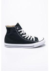 Czarne wysokie trampki Converse z okrągłym noskiem, z cholewką