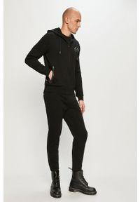 Czarna bluza rozpinana Karl Lagerfeld z kapturem, na co dzień