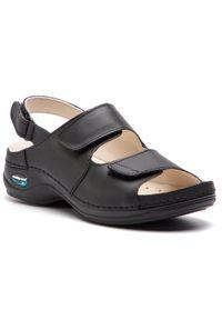 Czarne sandały Nursing Care