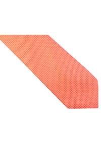 Modini - Różowy krawat w kratkę D162. Kolor: różowy. Materiał: tkanina, mikrofibra. Wzór: kratka
