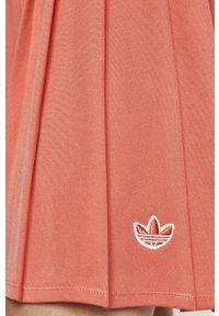 Różowa spódnica adidas Originals na co dzień, casualowa, z podwyższonym stanem