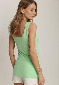 Renee - Miętowy Top Phaethusi. Kolor: miętowy. Długość rękawa: na ramiączkach