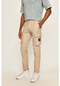 Beżowe spodnie Calvin Klein Jeans