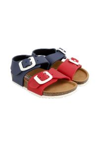 Niebieskie sandały Garvalin na klamry, gładkie