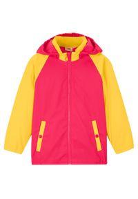 Żółty płaszcz bonprix z kapturem