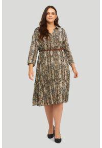 Greenpoint - Szyfonowa sukienka z nadrukiem. Materiał: szyfon. Wzór: nadruk