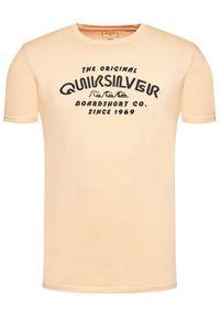 Quiksilver T-Shirt Wider Mile EQYZT06328 Pomarańczowy Regular Fit. Kolor: pomarańczowy