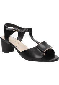 Czarne sandały Sergio Leone w kolorowe wzory, na lato, na co dzień, casualowe