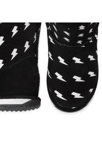 Czarne buty zimowe EMU Australia z cholewką, z cholewką za kostkę