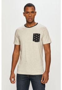 Szary t-shirt PRODUKT by Jack & Jones na co dzień, casualowy