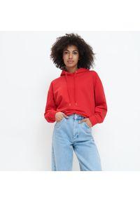 Czerwony sweter Mohito z kapturem