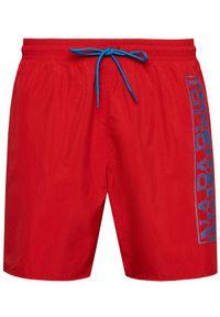 Napapijri Szorty kąpielowe Victor 1 NP0A4F9S Czerwony Regular Fit. Kolor: czerwony