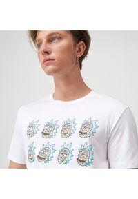 Sinsay - Koszulka Rick and Morty - Biały. Kolor: biały