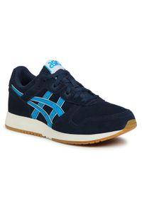 Niebieskie buty sportowe Asics z cholewką