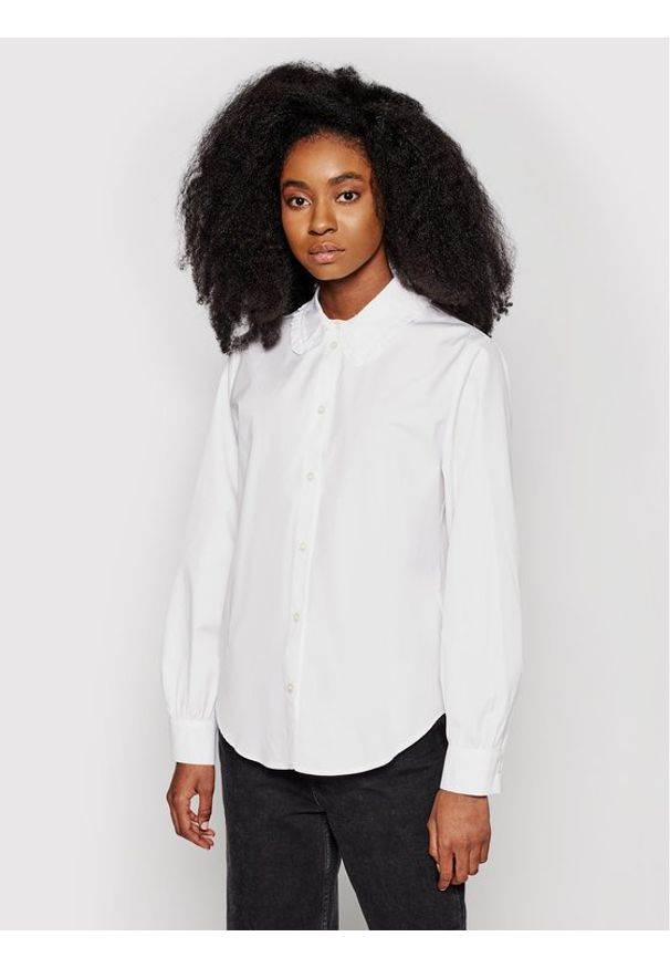 Samsoe & Samsoe - Samsøe Samsøe Koszula Rita F00023156 Biały Loose Fit. Kolor: biały