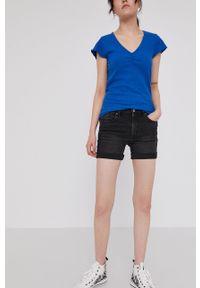 medicine - Medicine - Szorty jeansowe Denim. Kolor: czarny. Materiał: denim, jeans. Wzór: gładki