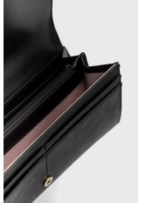 Liu Jo - Portfel. Kolor: czarny. Materiał: materiał. Wzór: gładki