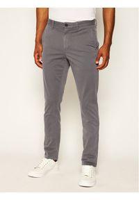 TOMMY HILFIGER - Tommy Hilfiger Spodnie materiałowe Core MW0MW08644 Szary Regular Fit. Kolor: szary. Materiał: materiał, bawełna, elastan