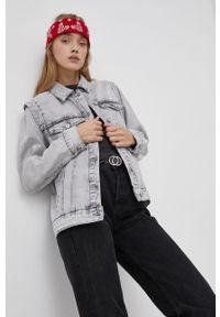 Noisy may - Noisy May - Kurtka jeansowa. Okazja: na co dzień. Kolor: szary. Materiał: jeans. Styl: casual