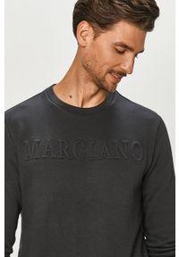 Niebieska bluza nierozpinana Marciano Guess casualowa, z aplikacjami, na co dzień