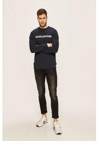Niebieska bluza nierozpinana Calvin Klein Jeans casualowa, na co dzień