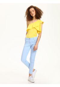 Żółta bluzka TROLL bez rękawów, na co dzień