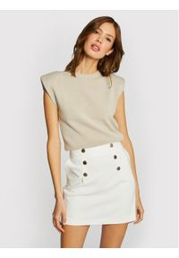 Morgan Spódnica mini 211-JIPLI.F Biały Regular Fit. Kolor: biały
