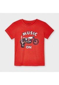 Mayoral T-Shirt 3049 Czerwony Regular Fit. Kolor: czerwony